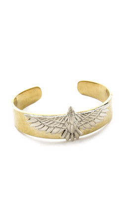 Pamela Love Aguila Cuff Bracelet - Brass/Silver