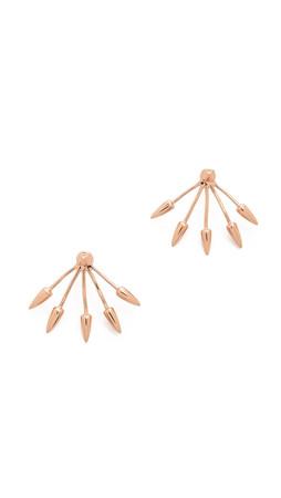 Pamela Love Five Spike Earrings - Rose Gold