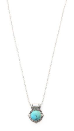 Pamela Love Frida Pendant Necklace - Antique Silver/Turquoise
