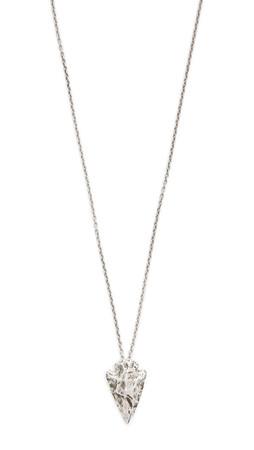 Pamela Love Mini Arrowhead Pendant Necklace - Antique Silver