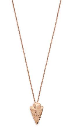 Pamela Love Mini Arrowhead Pendant Necklace - Rose Gold