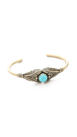 Pamela Love Reina Cuff Bracelet - Brass/Turquoise