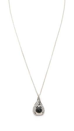 Pamela Love Reina Pendant Necklace - Silver/Onyx