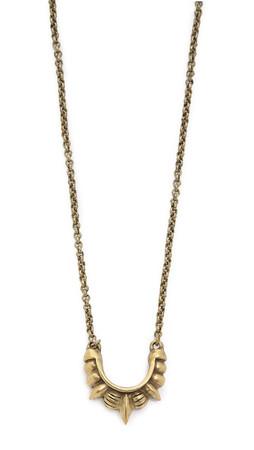 Pamela Love Small Tribal Spike Necklace - Antique Bronze