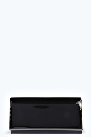 Patent Clutch Bag - black