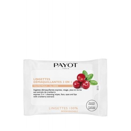 Payot Lingettes Demaquillantes Express 3 en 1 Fast Cleansing Wipes - Pk of 25