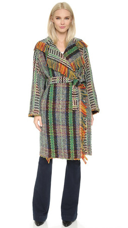 Philosophy Di Lorenzo Serafini Wool Blanket Coat - Green
