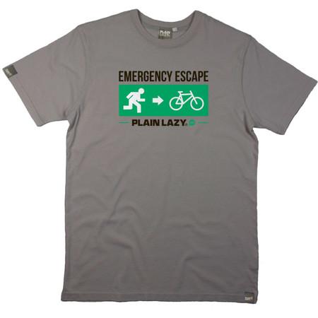 Plain Lazy Escape Bike T-Shirt - Extra Large Sport Grey | Tees