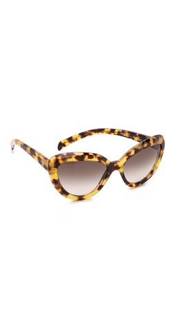 Prada Cat Eye Sunglasses - Havana/Brown