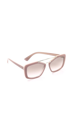 Prada Catwalk Aviator Sunglasses - Opal Powder Pink/Pink Grey