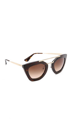 Prada Thick Frame Sunglasses - Havana/Brown
