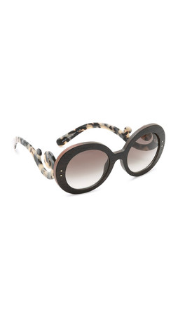 Prada Wood Sunglasses - Ebony Makassar White/Grey
