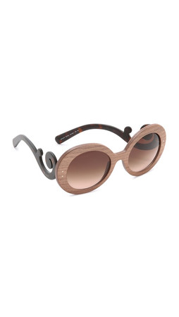 Prada Wood Sunglasses - Nut Canaletto Havana/Brown