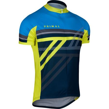 Primal Reverb Jersey - Large Grey/Yellow/Blue