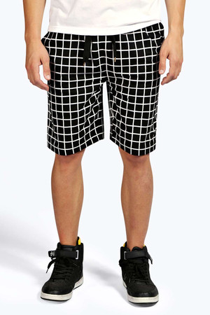 Print Jersey Shorts black