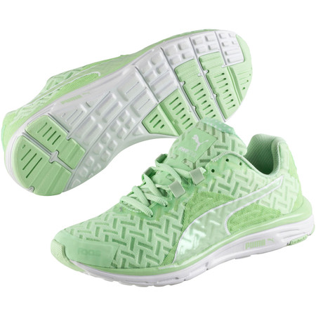 Puma Women's Faas 500 V4 Run Cool Shoes (SS15) - UK 7 Green/White