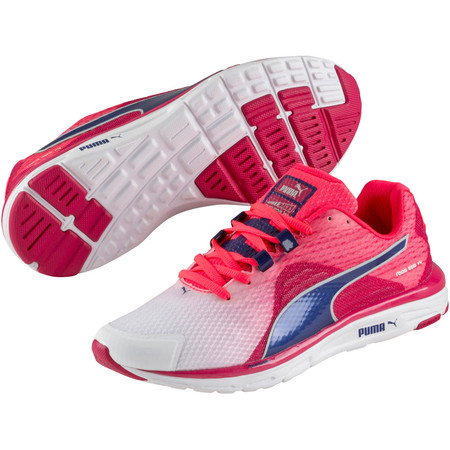 Puma Women's Faas 500 V4 Shoes - SS15 - UK 8 White/Pink/Blue