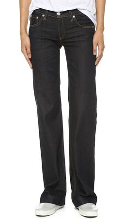 Rag & Bone/Jean The Wide Leg Jeans - Soft Harrow