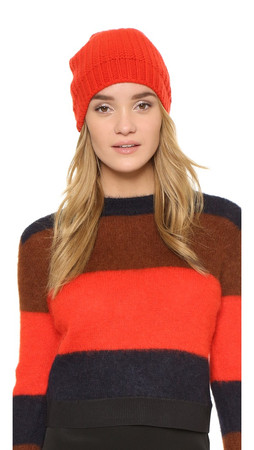 Rag & Bone Alexis Beanie Hat - Fiery Red