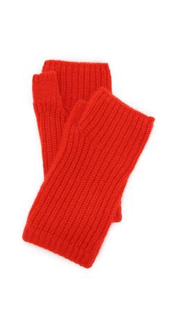 Rag & Bone Alexis Fingerless Cashmere Gloves - Fiery Red