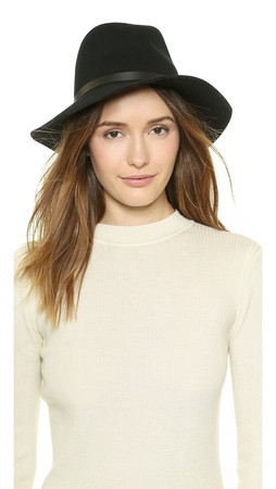 Rag & Bone Floppy Brim Fedora - Black