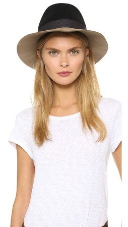 Rag & Bone Floppy Brim Fedora - Black Multi
