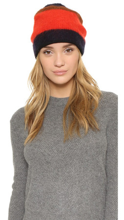 Rag & Bone Petra Beanie Hat - Fiery Red