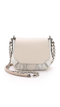 Rag & Bone Python Printed Bradbury Mini Chain Hobo Bag - White Python