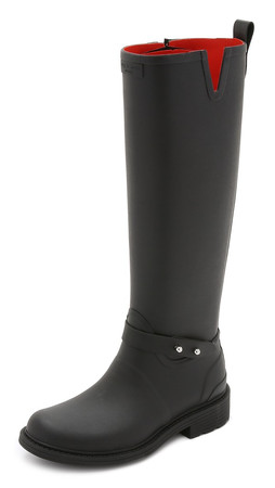 Rag & Bone Riding Rain Boots - Black