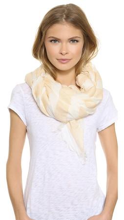 Rag & Bone Sheer Stripe Scarf - White