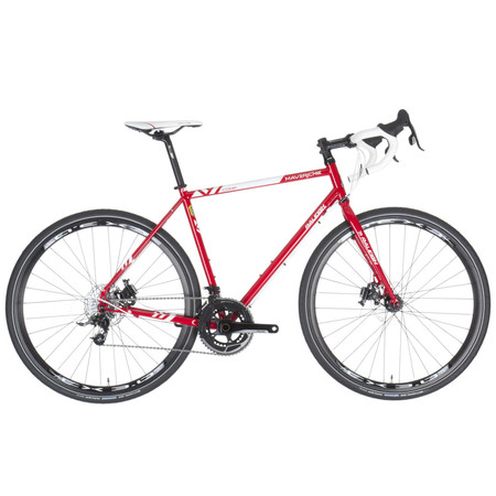 Raleigh Maverick Comp Rival 2015 - 60cm Red | Hybrid & City Bikes