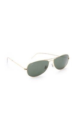 Ray-Ban Cockpit Aviator Sunglasses - Gold/Green