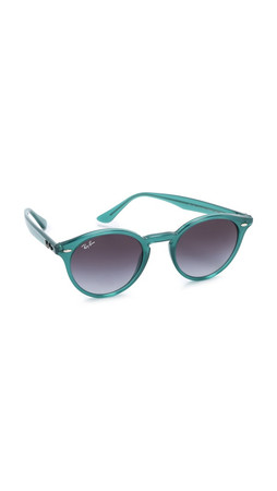 Ray-Ban Highstreet Round Sunglasses - Green/Grey Gradient