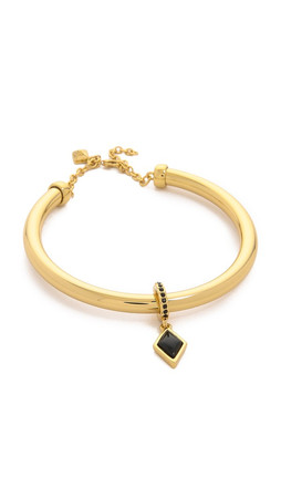 Rebecca Minkoff Charm Bangle Bracelet - Gold/Black