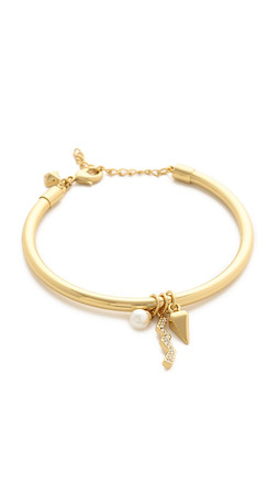 Rebecca Minkoff Crystal Imitation Pearl Bracelet - Gold/Pearl/Clear