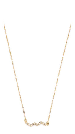 Rebecca Minkoff Crystal Zigzag Necklace - Gold/Clear