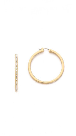 Rebecca Minkoff In & Out Hoop Earrings - Gold/Clear