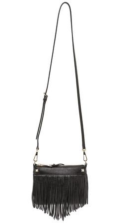Rebecca Minkoff Mini Fringe Cross Body Bag - Black