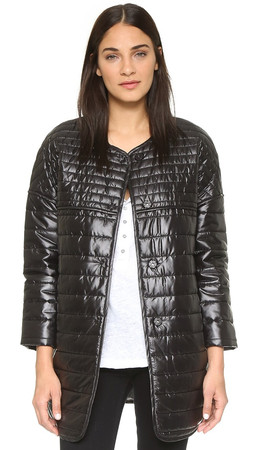 Rebecca Minkoff Rm Active Crystal Puffer Coat - Black
