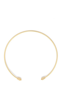 Rebecca Minkoff Two Pyramid Collar Necklace - Gold