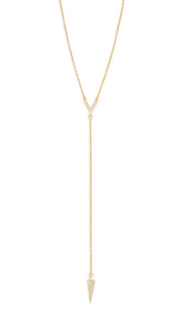 Rebecca Minkoff Y Necklace - Gold/Crystal