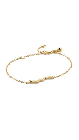 Rebecca Minkoff Zigzag Linear Bracelet - Gold/Clear