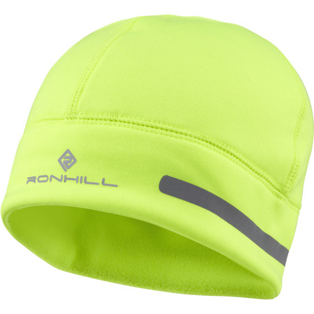 Ronhill Flash Beanie Hat - One Size Fluo Yellow/Reflect