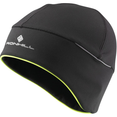 Ronhill Pro Beanie () - One Size Black/Fluo Yellow