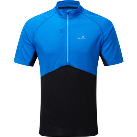 Ronhill Trail Zip Tee - SS15 - Extra Large Electric Blue/Black