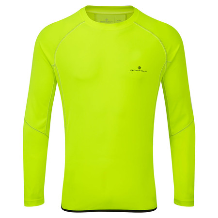 Ronhill Vizion LS Crew -  - Large Fluo Yellow