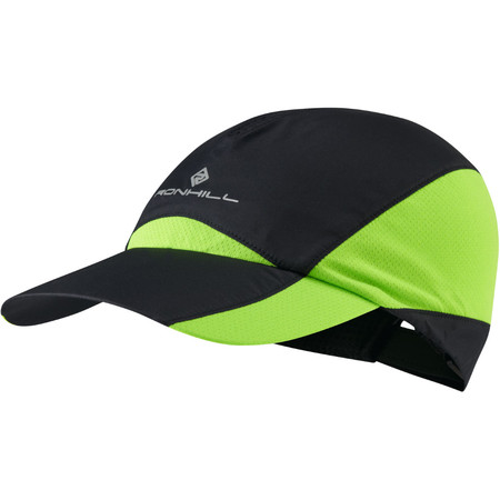 Ronhill Windlite Cap - SS15 - S-M Black/Gecko | Running Headwear