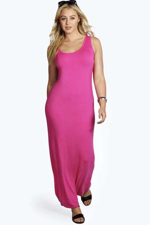 Rosie Scoop Neck Maxi Dress pink