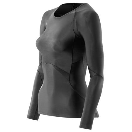 SKINS Women's RY400 Compression Long Sleeve Top - Medium Black