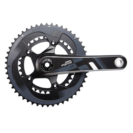 SRAM Force 22 BB30 Double Chainset - 175mm x 53/39 Black/Grey